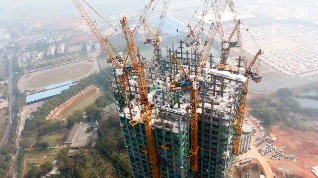 Una constructora china especializada en edificios prefabricados, Broad Sustainable Building, ha logrado construir un rascacielos de 57 pisos en tan sólo 19 días en la ciudad de Changsha (centro del país).