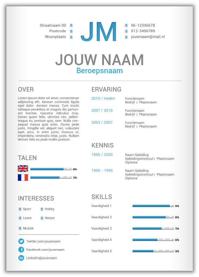 1000+ ide tentang Cv Template Word di Pinterest Resumé, Riwayat - contacts template word