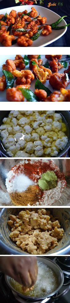 """""""Gobi 65"""", A crispy South Indian cauliflower dish which will win the hearts of vegetarians and non-vegetarians alike. Perfect as an appetizer or a snack along with your evening tea."""