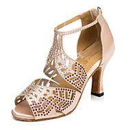Sapatos+de+Dança(Preto+/+Marrom+/+Vermelho)+-Feminino-Personalizável-Latina+/+Jazz+/+Tênis+de+Dança+/+Moderna+–+EUR+€+58.79
