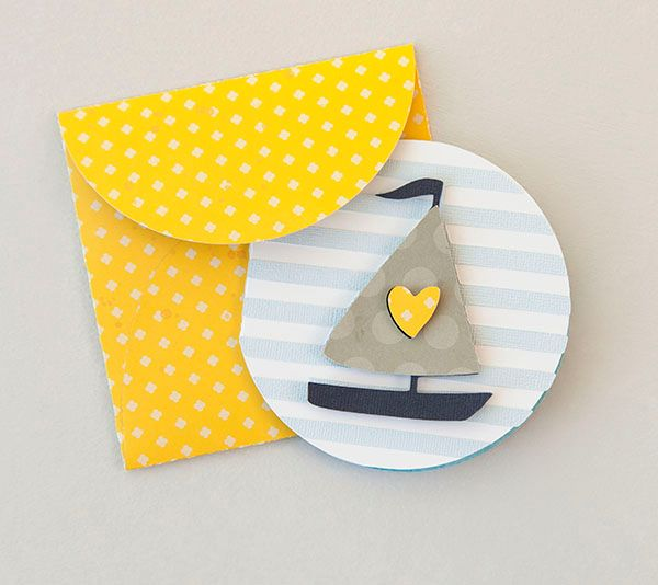 Sailboat Card--cute for baby!