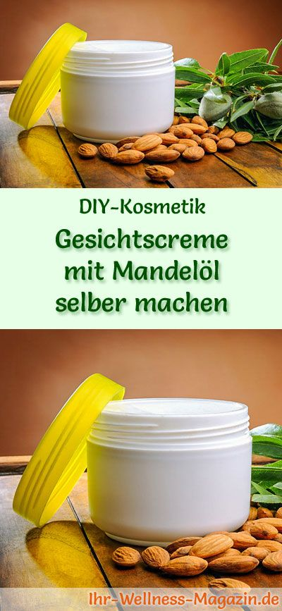 Gesichtscreme selber machen: So können Sie eine Gesichtscreme mit Mandelöl selber machen, probieren Sie das folgende Rezept mit Anleitung ...