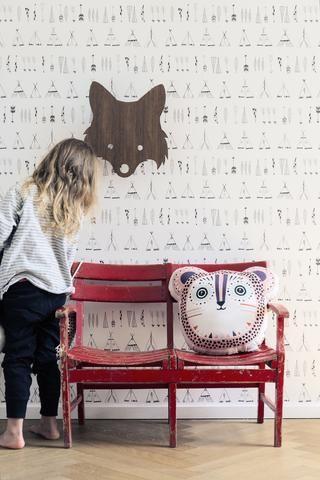 Wallpaper . Native - Black / White