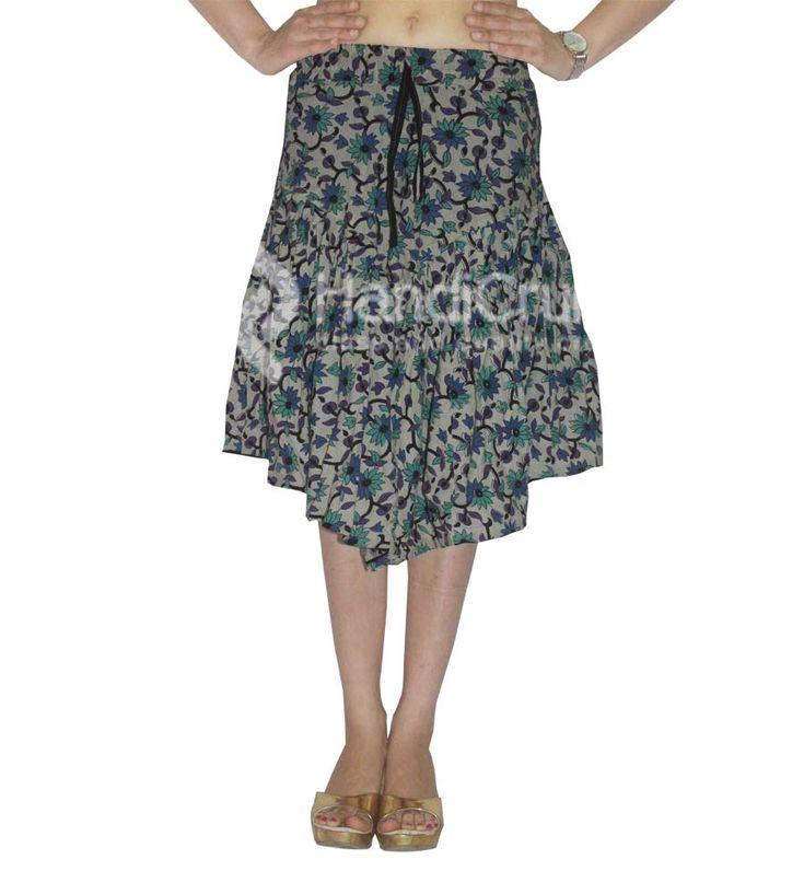 Jaipuri cotton short wrap around skirt for women