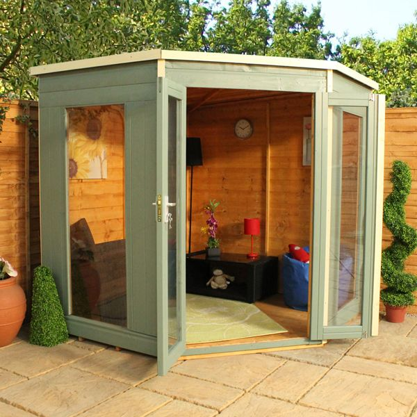 7 x 7 Waltons Premier Corner Summerhouse on Walton Garden Buildings