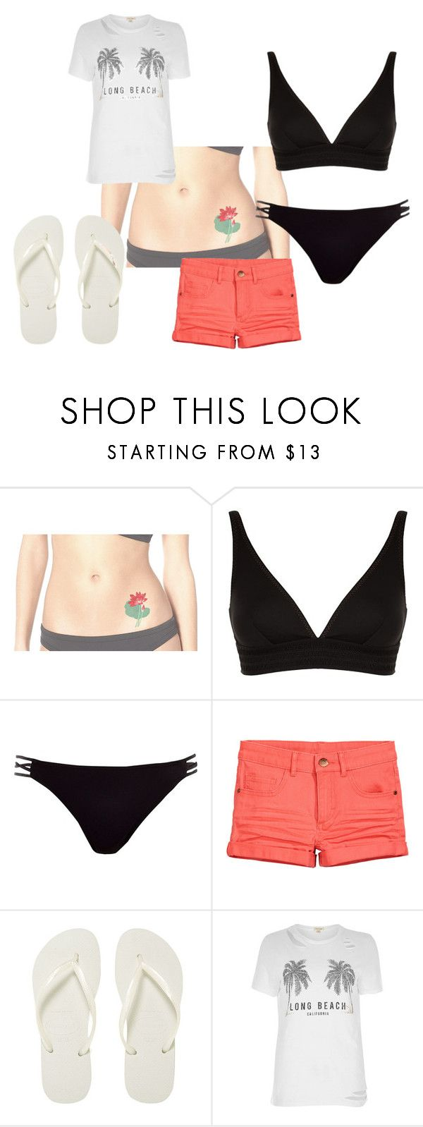 """""""ready to beach"""" by tiziana-enrico ❤ liked on Polyvore featuring MaxMara, River Island and Havaianas"""