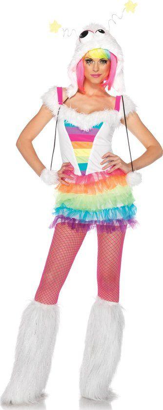 """""""Regenboog monster kostuum voor dames  - Verkleedkleding - Small"""""""