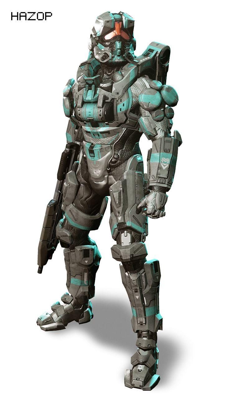 Halo 4 Spartan-IV in MJOLNIR Gen. 2 armor, Hazops configuration.