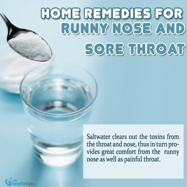 how to clear a runny nose fast