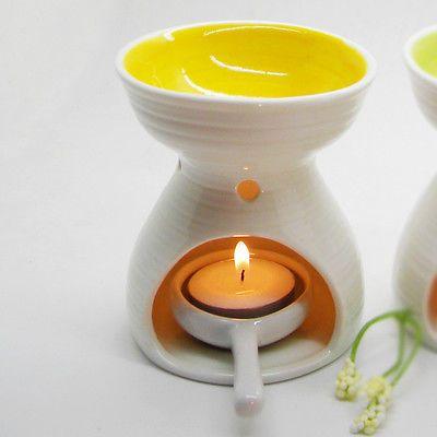 High capacity candle oil burner Colored Ceramic Essential Oil Burner