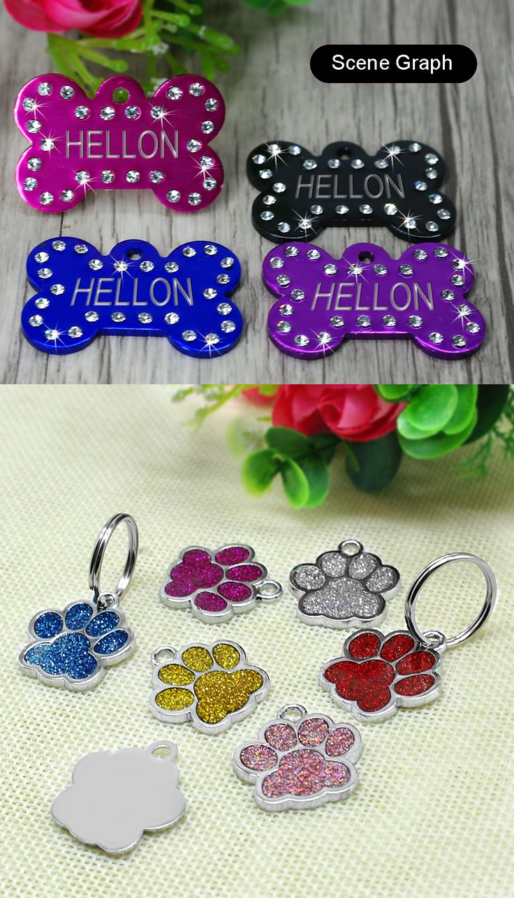 Personalized cat puppy id name collar. Carefully chosen