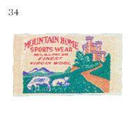 Mountain Home Sports Wear  Reg U.S. Pat. Off.  Finest Virgin Wool