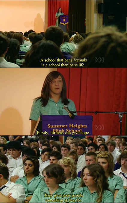 And fought for everyone's right to have a formal: | 22 Times Ja'mie King Was The Most Real And Inspiring Person On Television