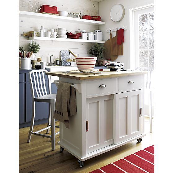 Belmont White Kitchen Island Crate And Barrel Baking