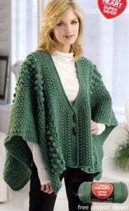 Aran Toggle Wrap LW1771 | Free Crochet Patterns | Yarn