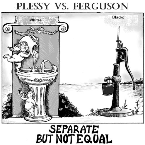 "Interest: Plessy vs Ferguson was upheld by the U.S. Supreme Court in 1896, and resulted in the creation of the ""seperate but equal"" accommodations to be created for both whites and blacks. This led to an increase in segregation and the beginning of the Jim Crow period."