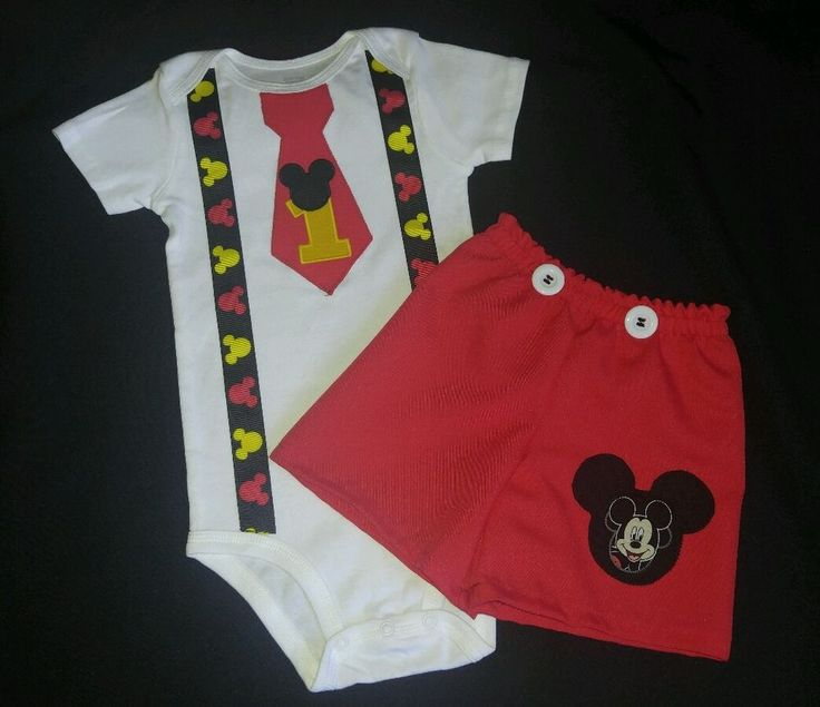 Custom Personalized Mickey Mouse Birthday Party Outfit set, 12M,18M, 24M…