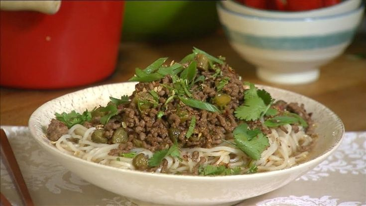 In the second part of our series with chef Ching He Huang, she shows us simple Beef Dan Dan noodles.