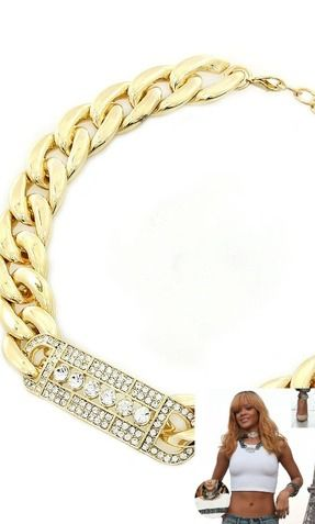 DESIGNER INSPIRED CRYSTAL ID NECKLACE - So Sexy Fashion