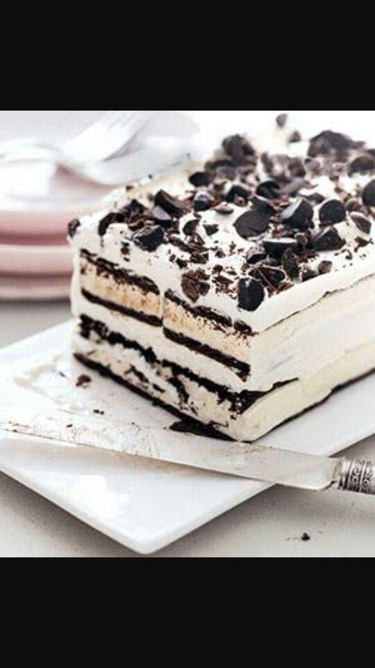 Chocolate chip I cream cake