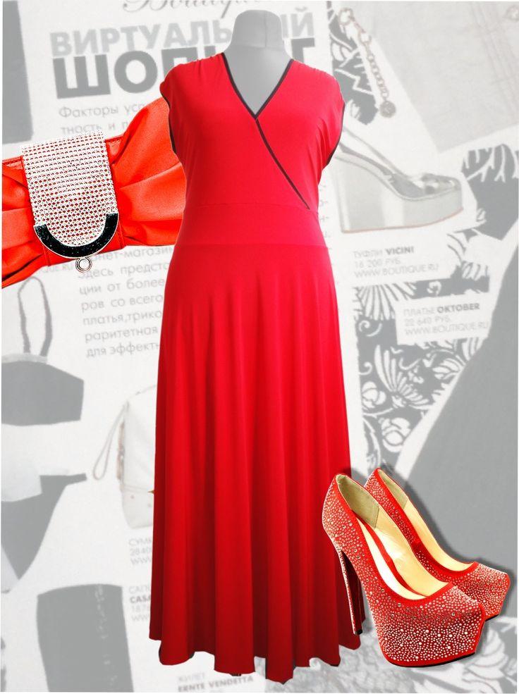 52$ Нарядное платье для полных женщин - красное в пол Артикул 429, р50-64 Платья больших размеров  Летние платья больших размеров Платья макси больших размеров  Платья нарядные больших размеров  Дизайнерские платья больших размеров Красивые платья больших размеров  Модные платья больших размеров  Стильные платья больших размеров