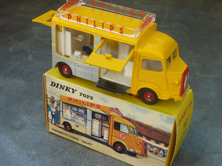 Dinky Toys Citroën camionnette Philips 1:43 scale - 1964 (Made in France)