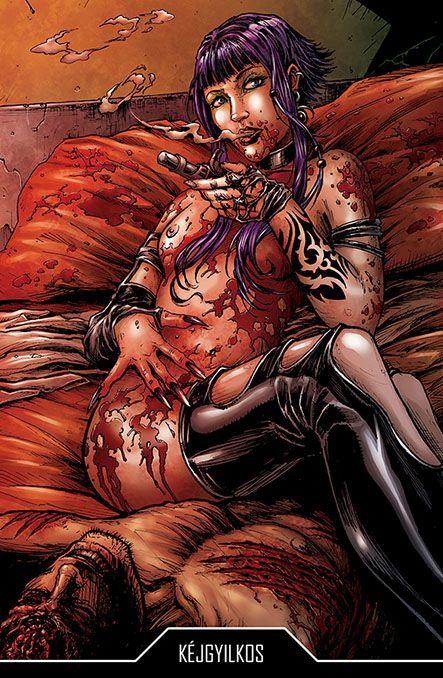 Bloodlust: Cryweni történetek antológia - Kéjgyilkos novellaborító