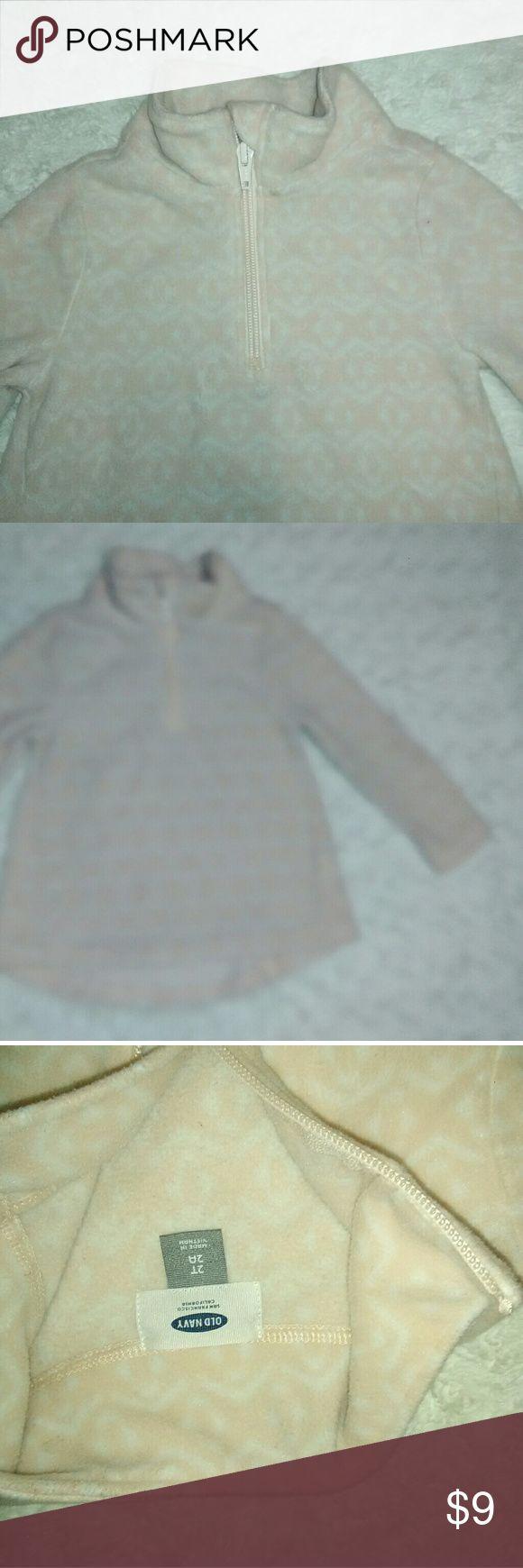 Old navy fleece pink and white Old navy fleece pink and white never worn no tags Old Navy Jackets & Coats