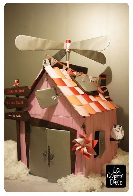 Cabane de Lee-lou 2012 -Chez cette fille-  #cabane #carton #hélice #nuage #chambreenfant  #kidroom #kidhut #helix #cardboard #cloud