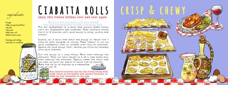 CiabattaRolls, https://drawandbake.wordpress.com Pia Dirks Illustrations