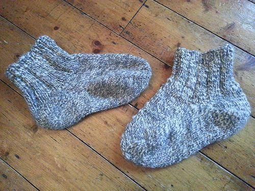 Hand spun slouch socks