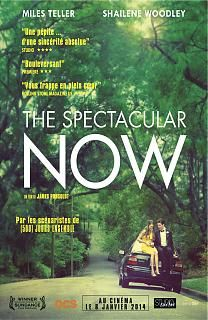 The Spectacular Now, film sur l'adolescence américaine, mais dans un genre un peu indé. Le couple d'acteur est attachant, notamment  Miles Teller, déjà vu dans The rabbit hole et Project X, excellent. Une vision réaliste du teen movie, mais un film qui manque de souffle et d'émotion. Bof.