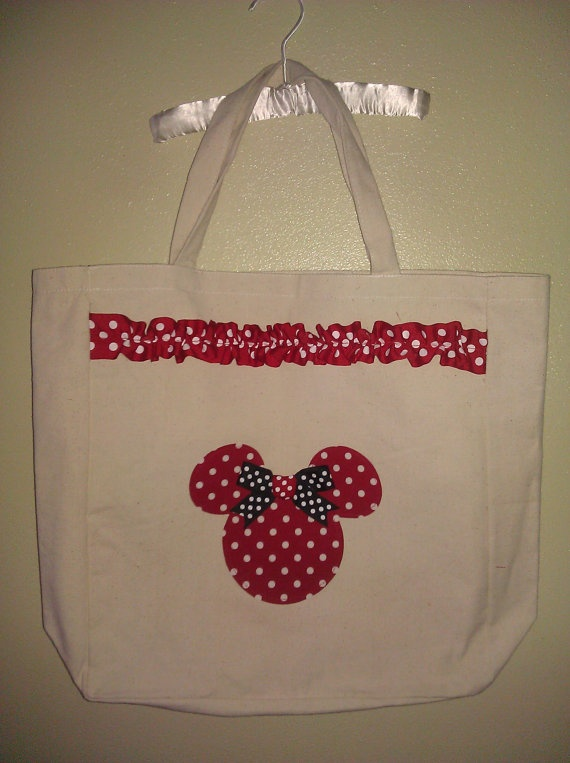 Personalized Minnie Mouse Inspired Memory Photo Tote by AvaBabyCo, $23.00
