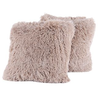 Colorful Plush Throw Pillows (Set of 2) - Overstock™ Shopping - Great Deals on Throw Pillows
