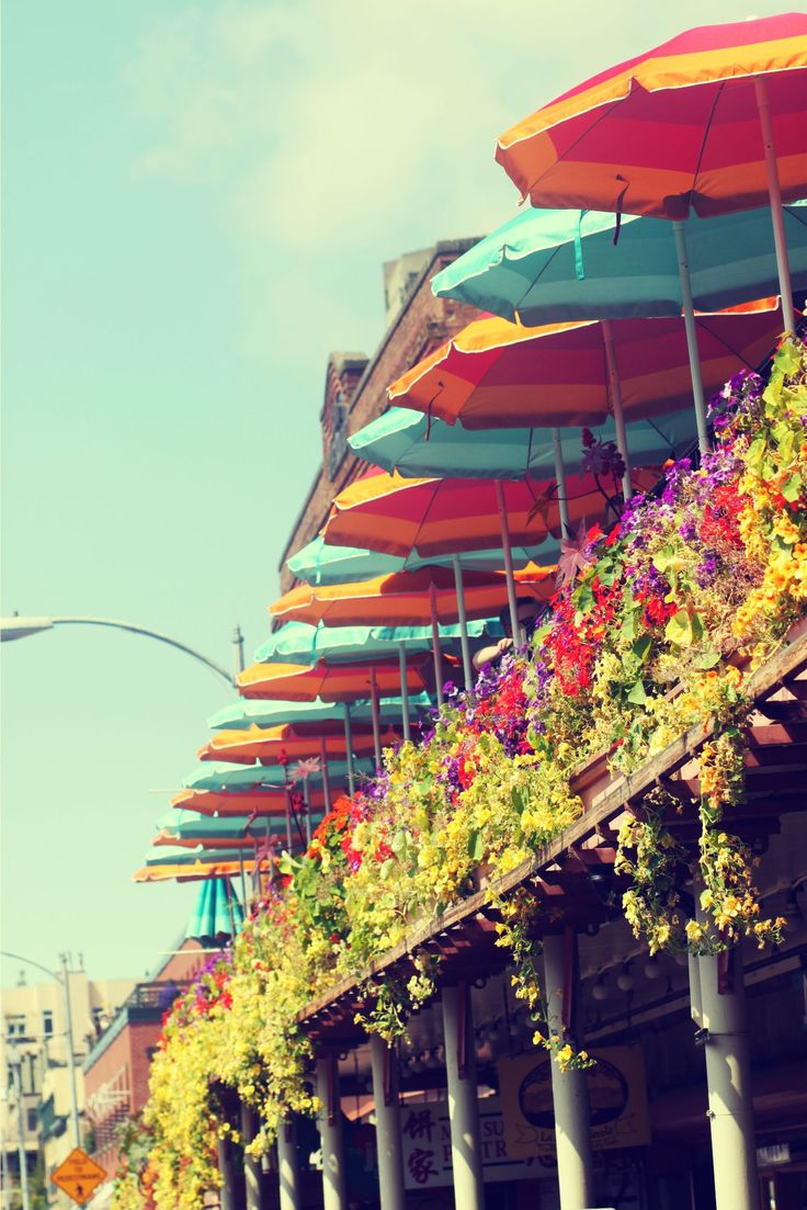 Pike Place Market in the spring seattle