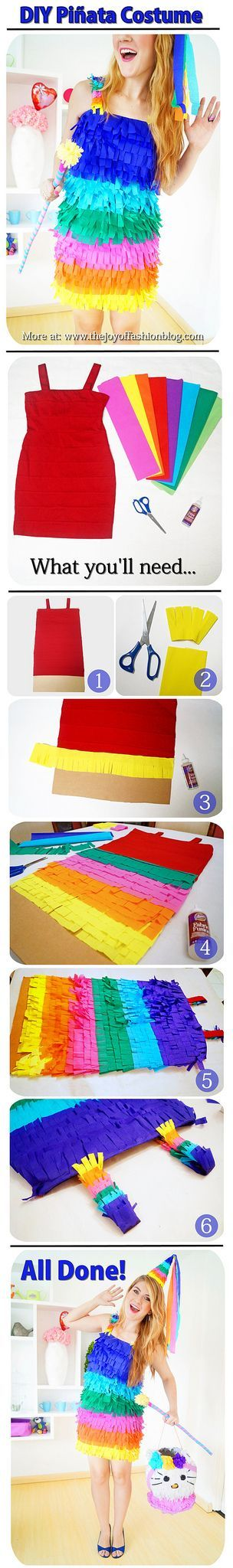 Easy Piñata Costume #halloween #costume #diy #craft                                                                                                                                                      More