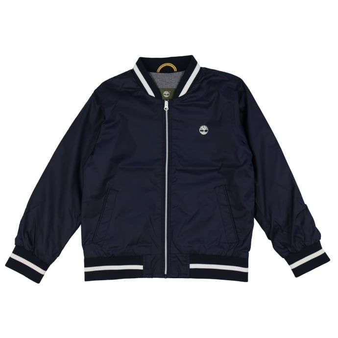 Timberland Boys Navy Wind-Breaker with White Trimming. Now available at www.chocolateclothing.co.uk