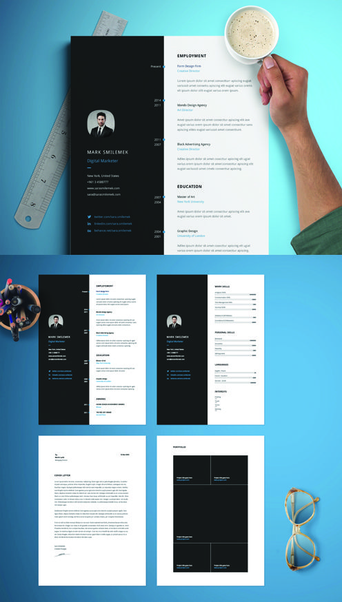 vertical resume template free download