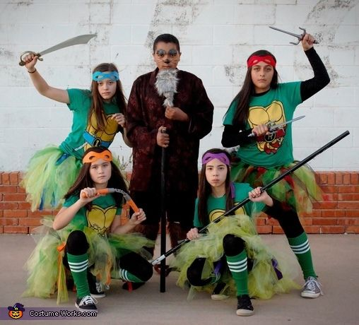 Courtney: My son Devyn and his friends Sydnee, Jadan, Macie, and Destiny all dressed up as the Ninja Turtles and Master Splinter. All of us moms got together and made their...