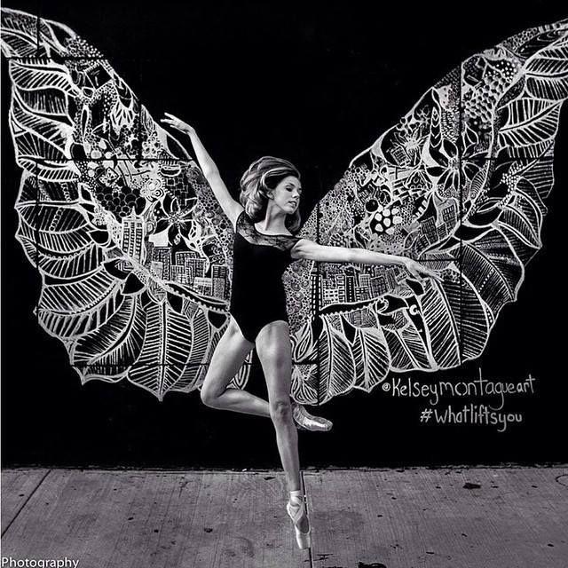 Kelsey Montague Art Wonderful Wings Art Graffiti Art