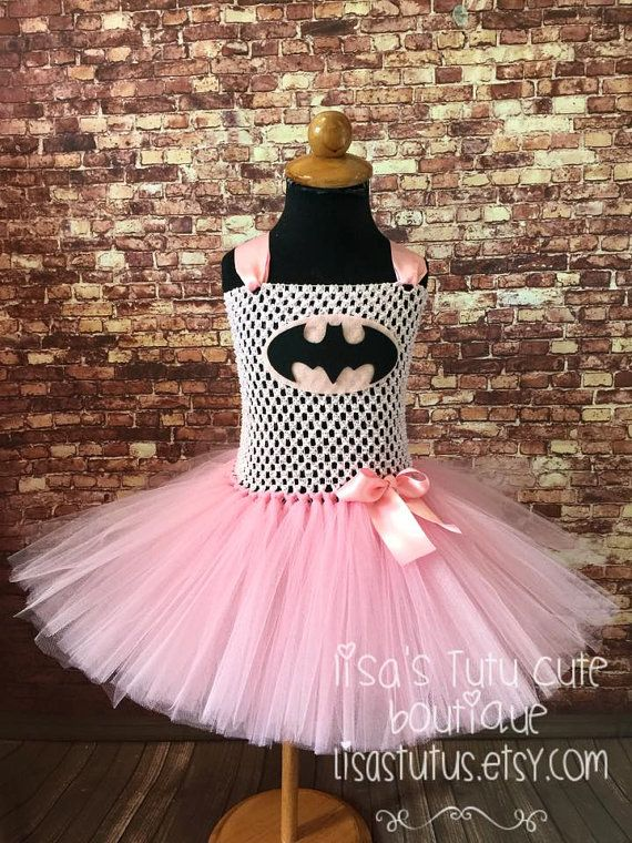 Batman tutu, Batman dress, batman tutu dress, pink batman tutu, pink batman dress, batman comic con tutu, batman Halloween costume
