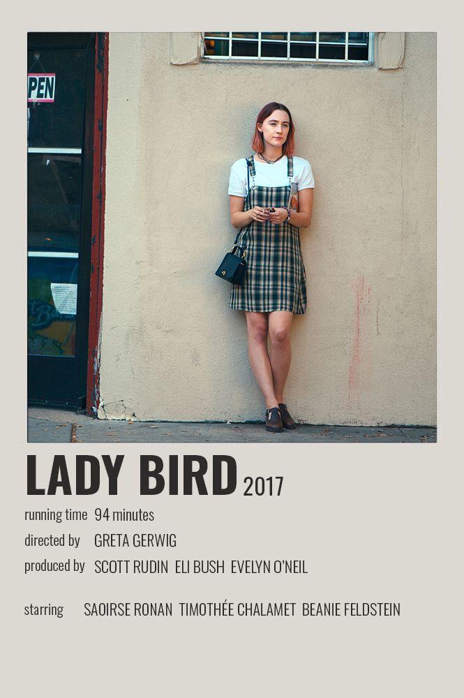 Lady Bird Polaroid Poster Iconic Movie Posters Film Poster Design Movie Posters Minimalist