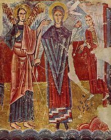 Anunciación de la iglesia de Sant Pere de Sorpe (Alto Aneu, España), mediados del siglo XII.