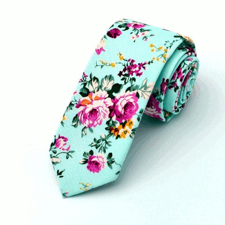 Men's Wedding Cotton Printing Floral Ties For Men Suit Skinny Ties Corbatas Grooms Necktie