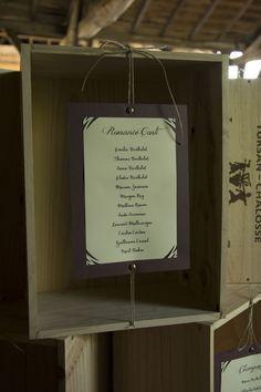 Mariage thème vin vigne caisse plan de tables vignoble DIY