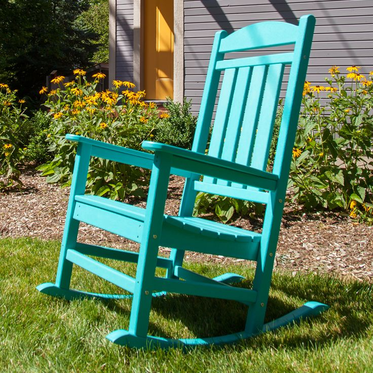 The Polywood Presidential Rocker In Aruba. Polywood Lumber Is Made From Recycled  Milk Cartons And. Vibrant ColorsPorch FurnitureOutdoor ... Part 59