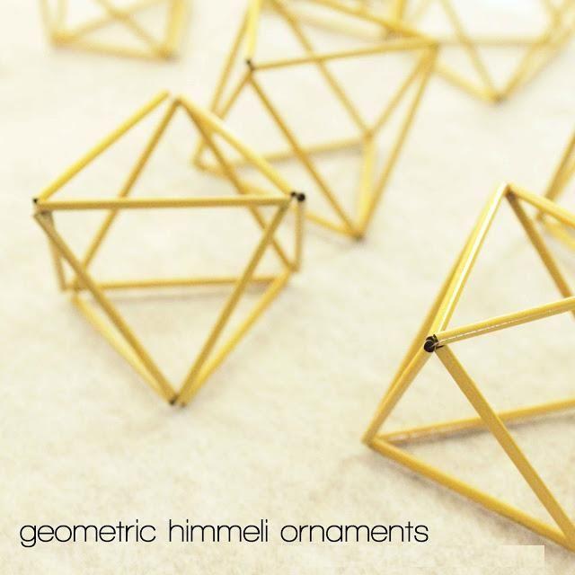 DIY modern geometric sculptures using coffee straws!