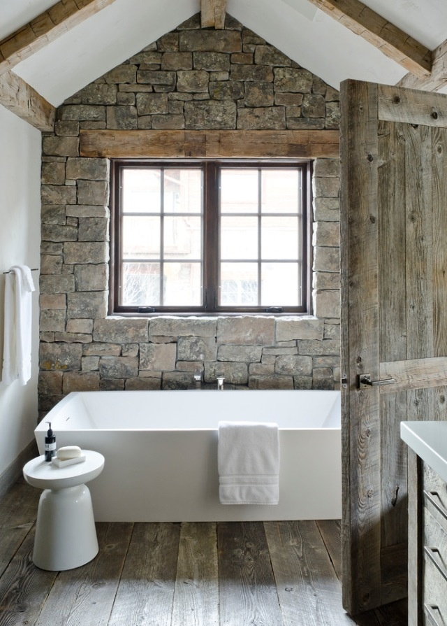 We love how simple yet natural this washroom is.