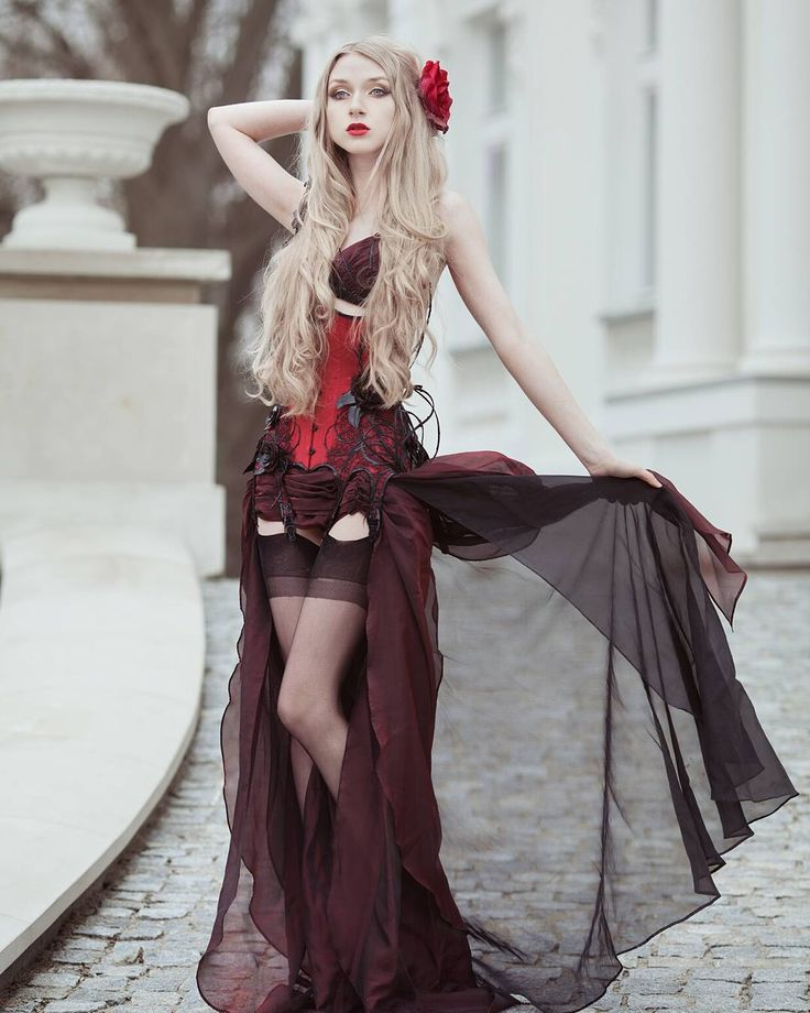 Outfit created by @royalblack_couture  #corset #corsetry #couture #stockings #nylons #gothic #blonde