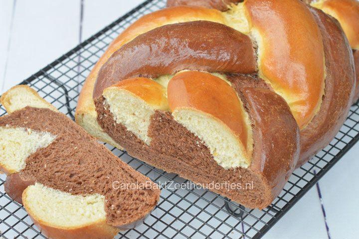 Chocolade en vanille luxe vlechtbrood